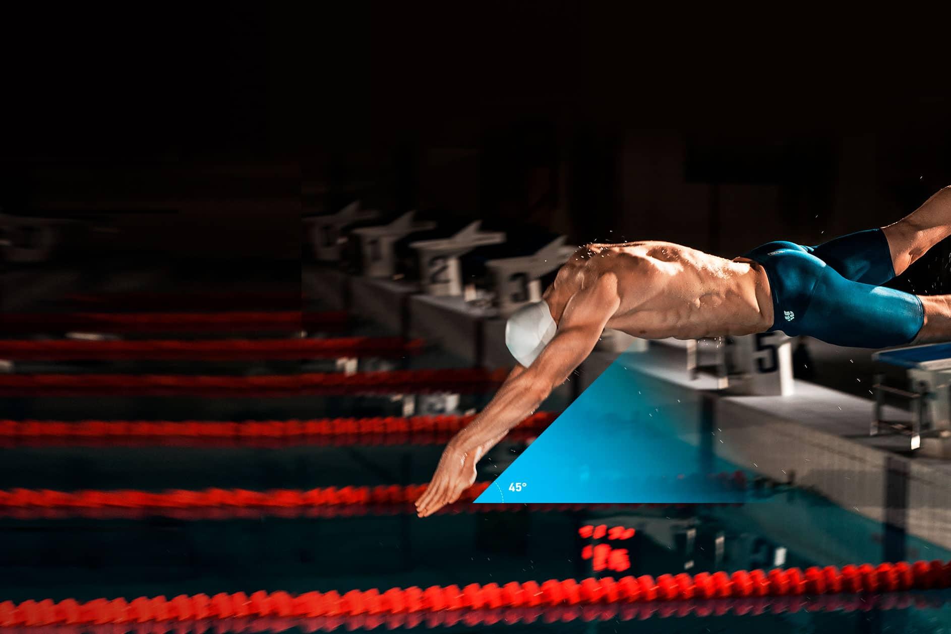 Старт в плавании - прыжок в воду