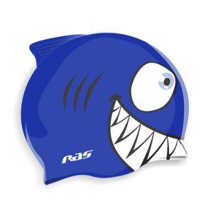Шапочка для плавания силиконовая Shark