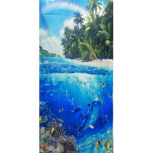 Полотенце микрофибра Океан (75*150)( расцветка в ассортименте)