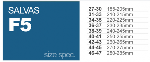 Ласты Salvas F5S (white/blue) большие размеры